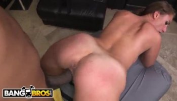 Big tits August enjoys pussy fuck