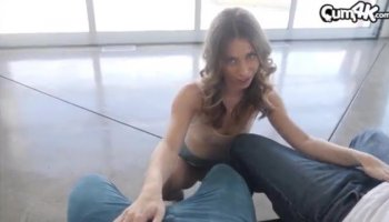Petite with bubble butt Ally Tate masturbates and gets fucked
