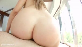 Slutty brunette kitty Lia is deeply sucking huge and hard three dicks at the same time and moaning in wild passion