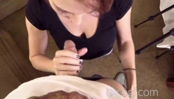 Vagina drilling while wearing hose